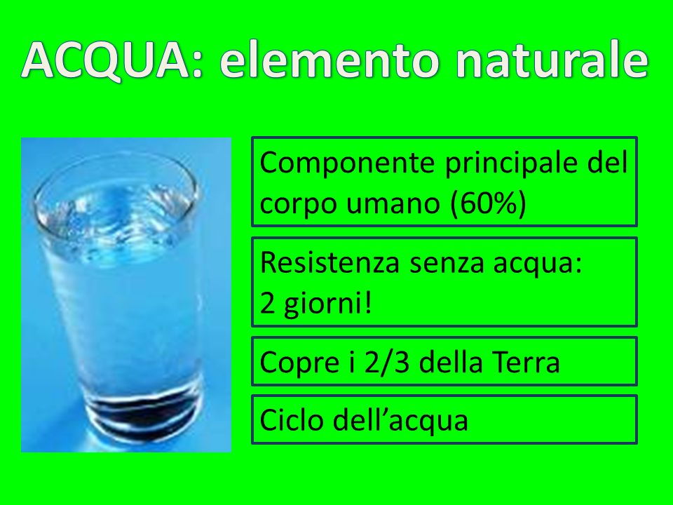 ACQUA: elemento naturale