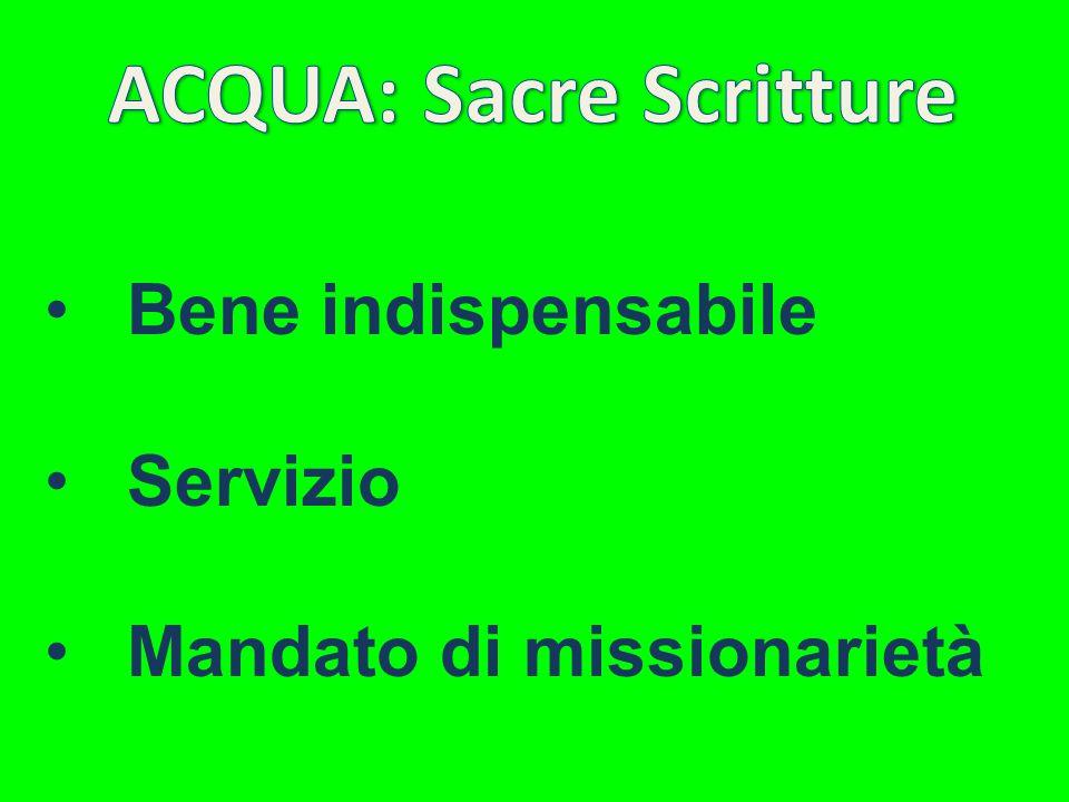 ACQUA: Sacre Scritture