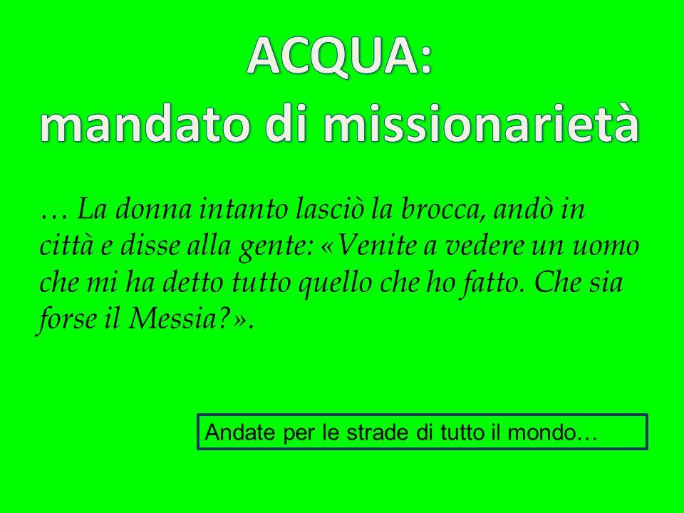 mandato di missionarietà