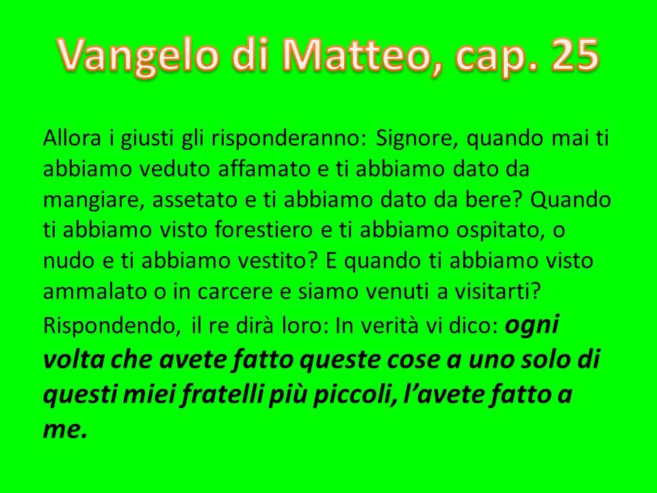 Vangelo di Matteo, cap. 25