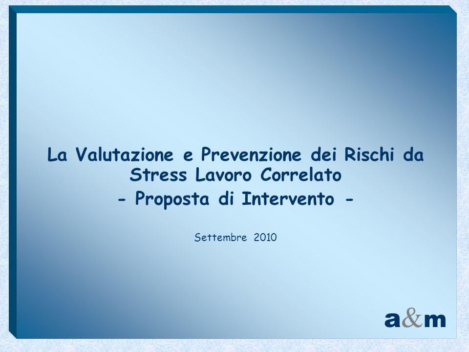 La Valutazione e Prevenzione dei Rischi da Stress Lavoro Correlato