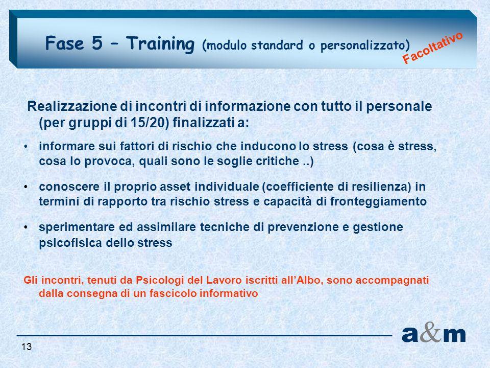 a&m Fase 5 – Training (modulo standard o personalizzato)