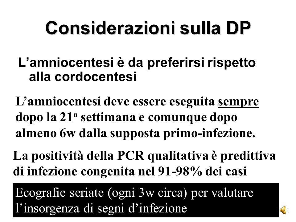 Considerazioni sulla DP