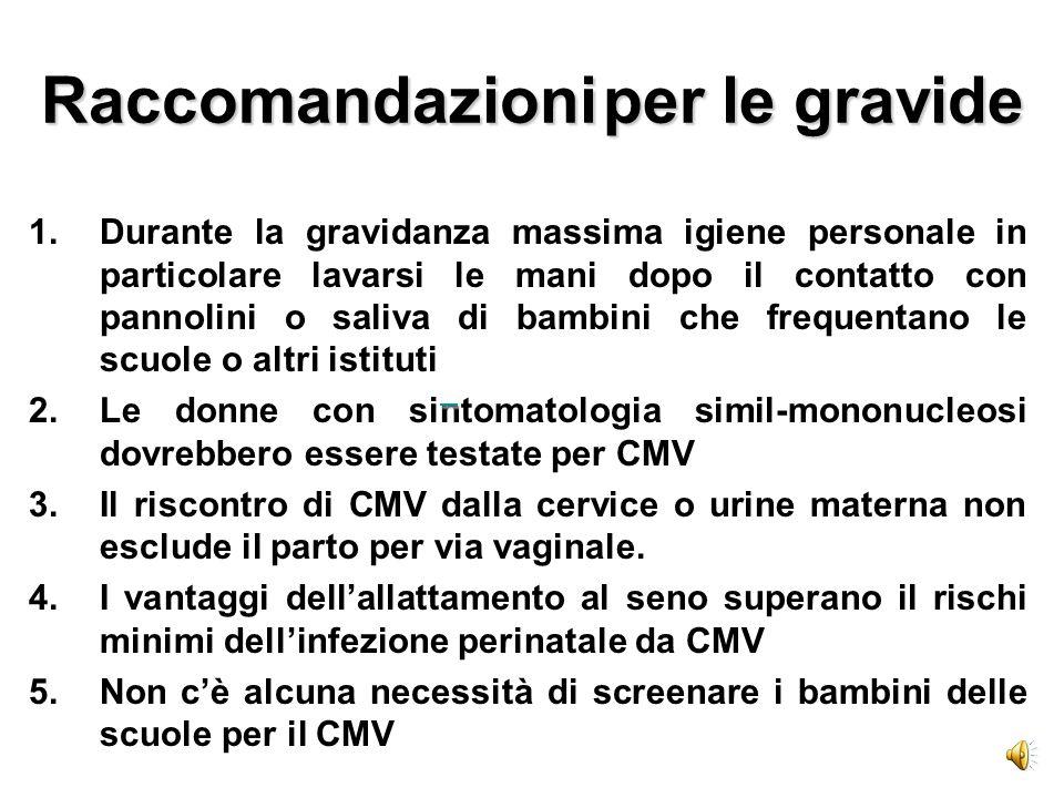 Raccomandazioni per le gravide