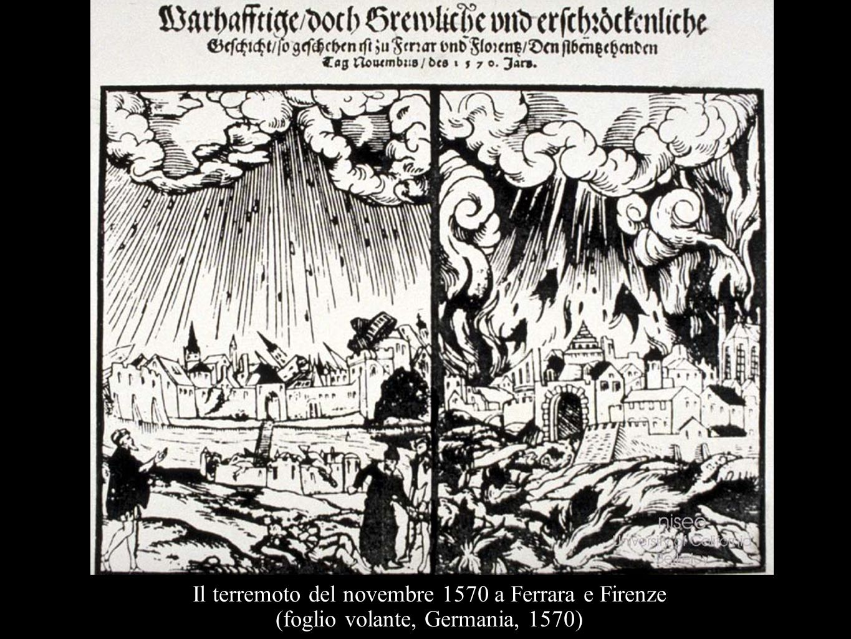Il terremoto del novembre 1570 a Ferrara e Firenze