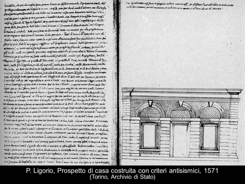 P. Ligorio, Prospetto di casa costruita con criteri antisismici, 1571