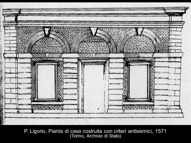P. Ligorio, Pianta di casa costruita con criteri antisismici, 1571