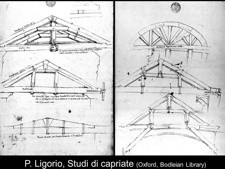 P. Ligorio, Studi di capriate (Oxford, Bodleian Library)