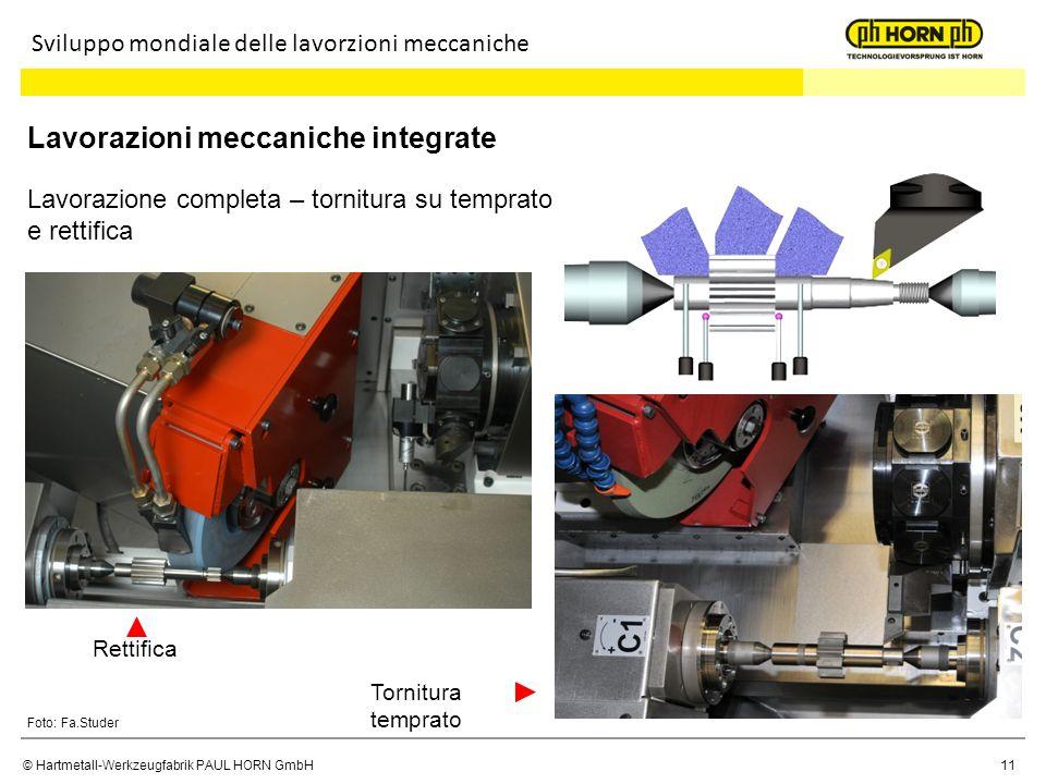 Lavorazioni meccaniche integrate