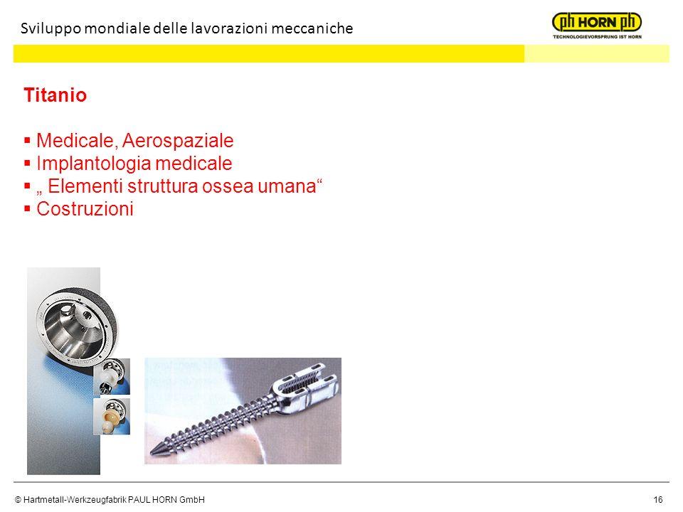 Medicale, Aerospaziale Implantologia medicale