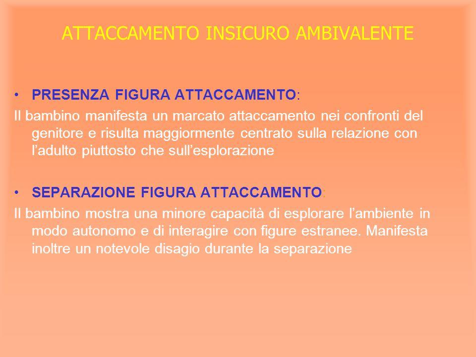ATTACCAMENTO INSICURO AMBIVALENTE