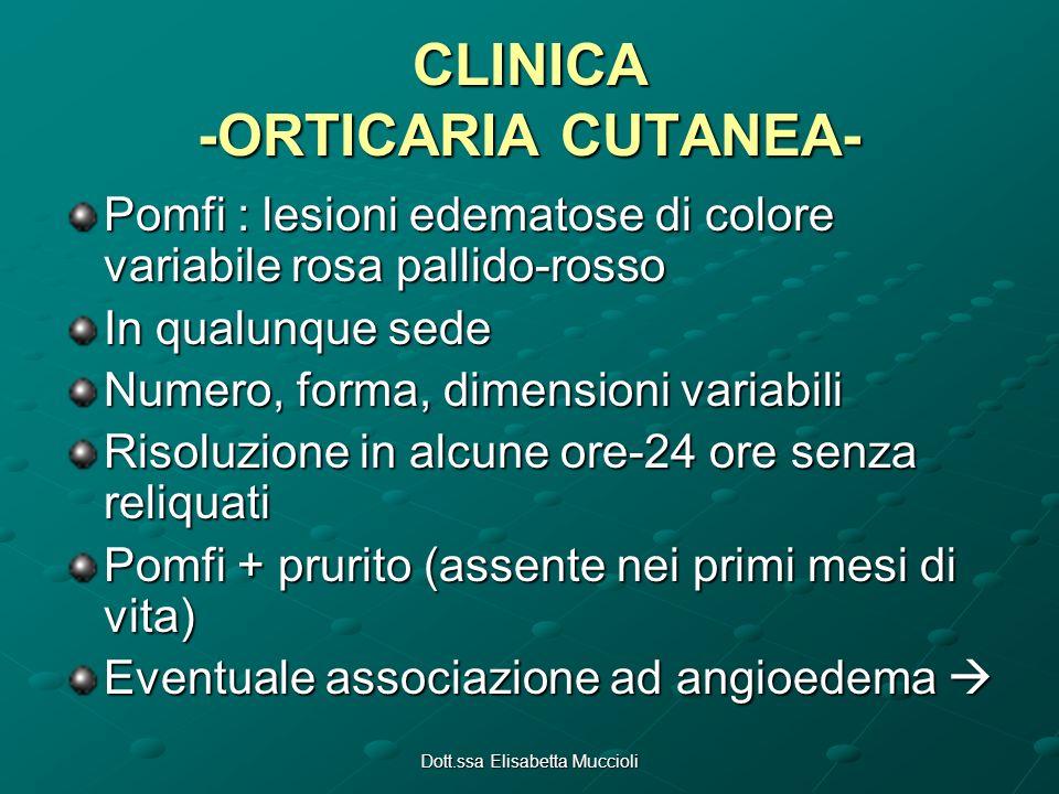 CLINICA -ORTICARIA CUTANEA-