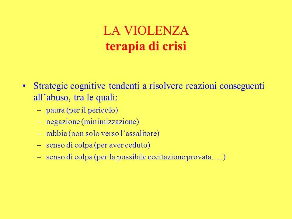LA VIOLENZA terapia di crisi