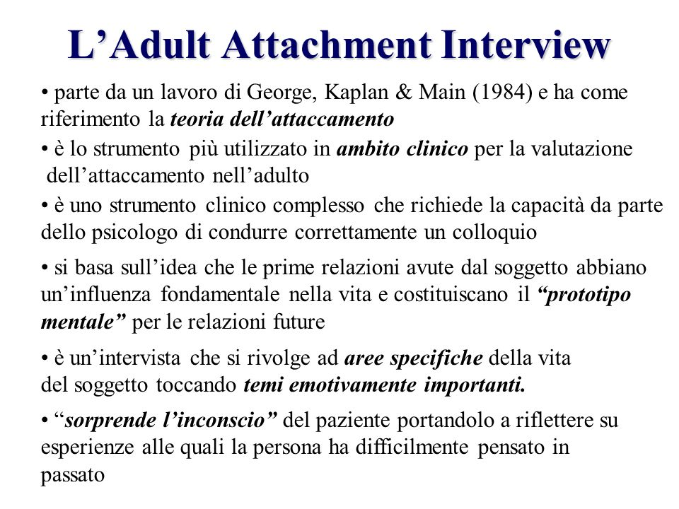 L'Adult Attachment Interview
