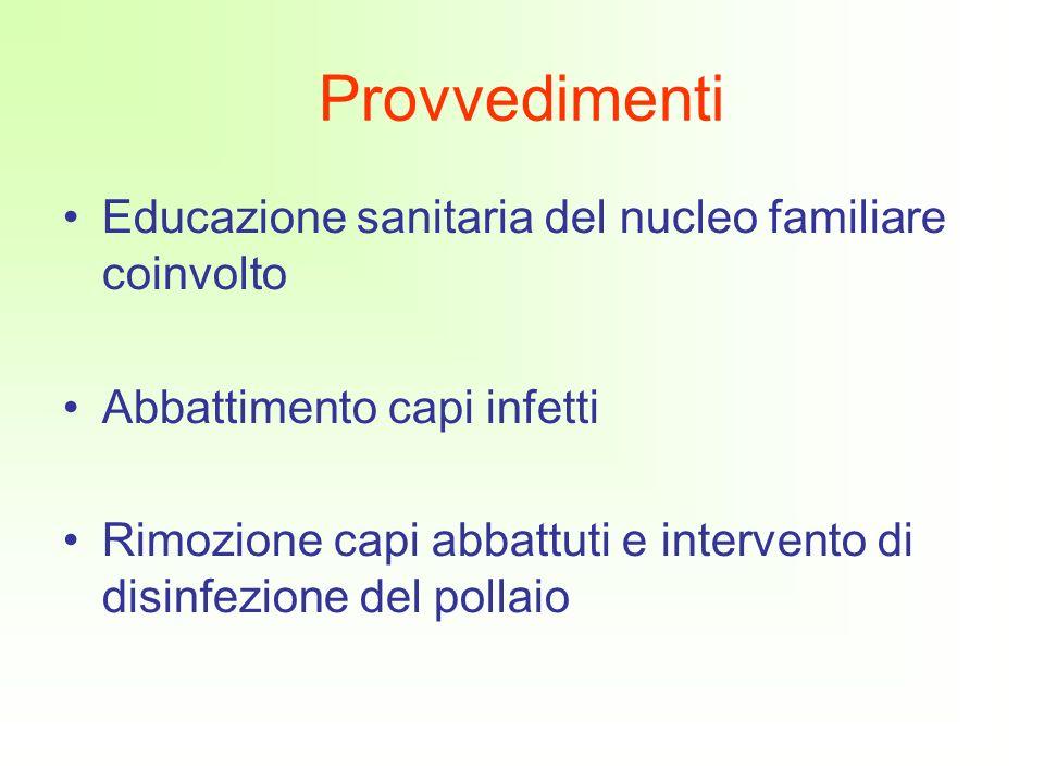Provvedimenti Educazione sanitaria del nucleo familiare coinvolto