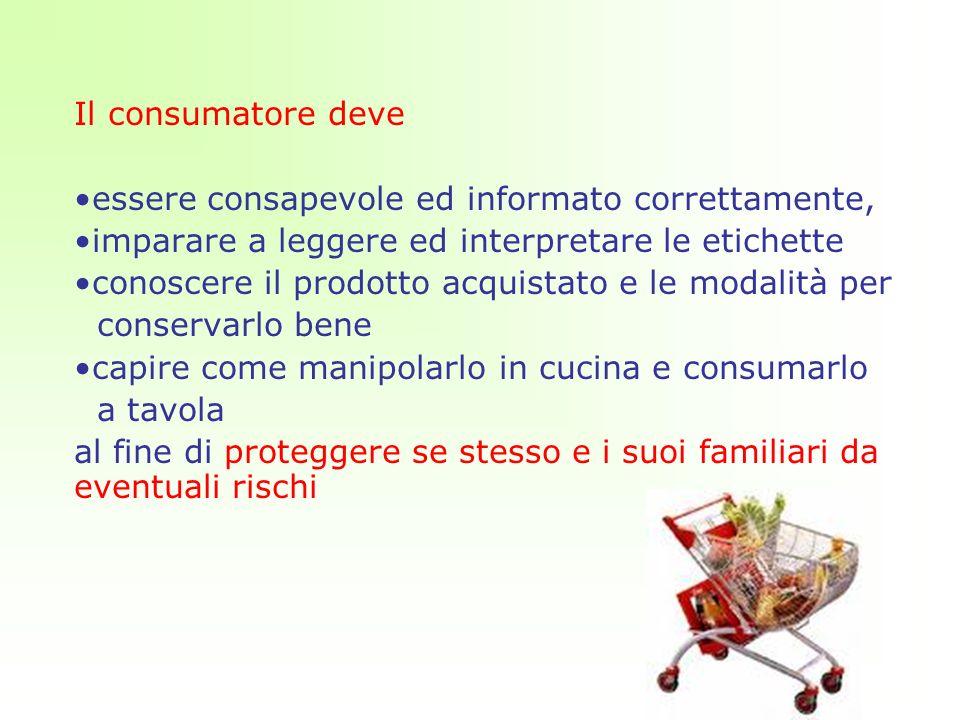 Il consumatore deve essere consapevole ed informato correttamente, imparare a leggere ed interpretare le etichette.