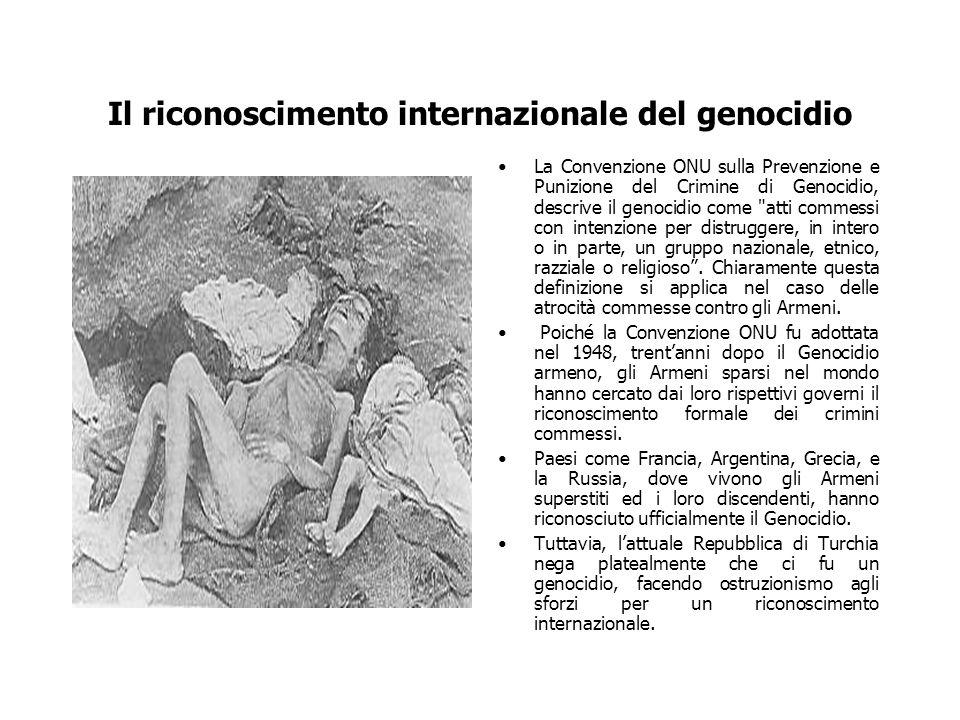 Il riconoscimento internazionale del genocidio