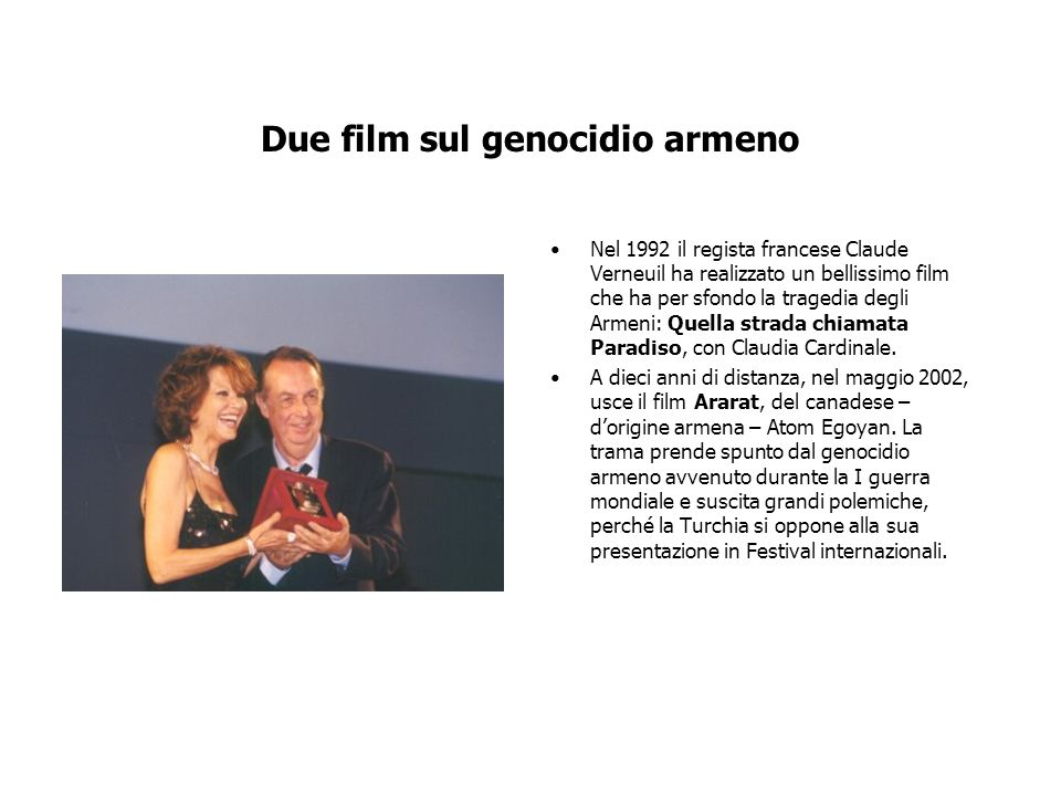 Due film sul genocidio armeno