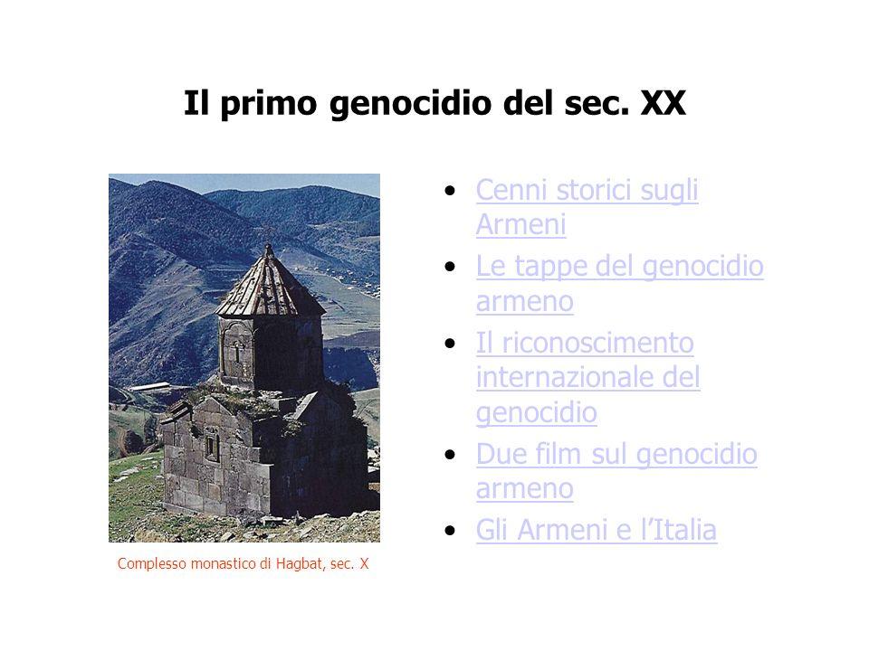 Il primo genocidio del sec. XX