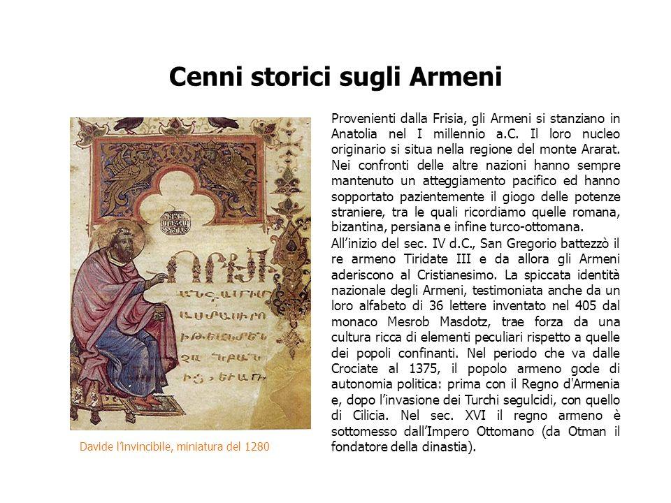 Cenni storici sugli Armeni