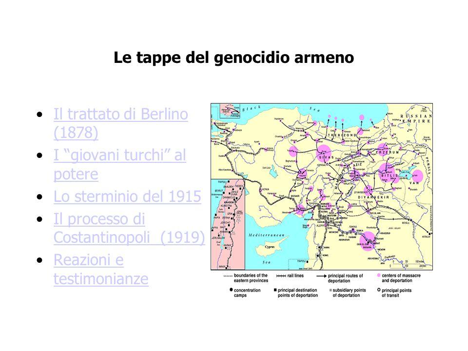 Le tappe del genocidio armeno