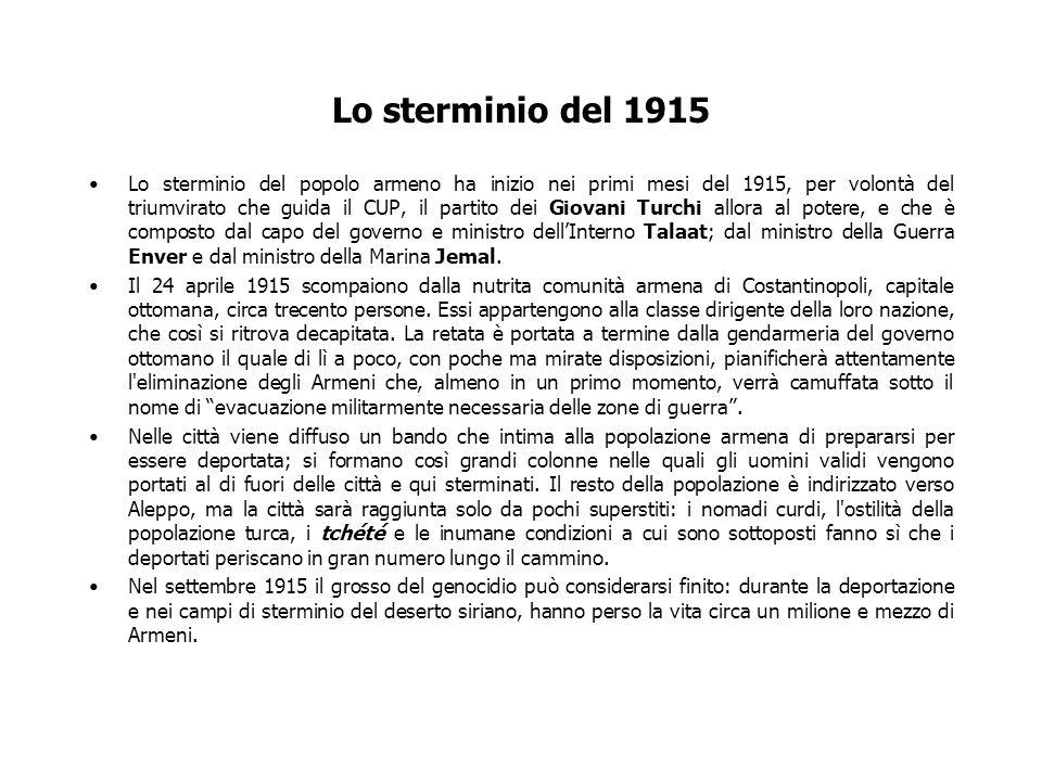 Lo sterminio del 1915
