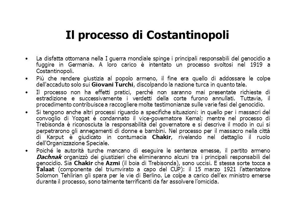 Il processo di Costantinopoli