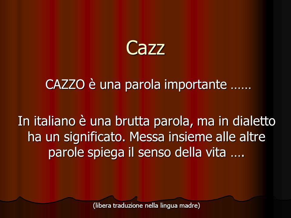 CAZZO è una parola importante ……
