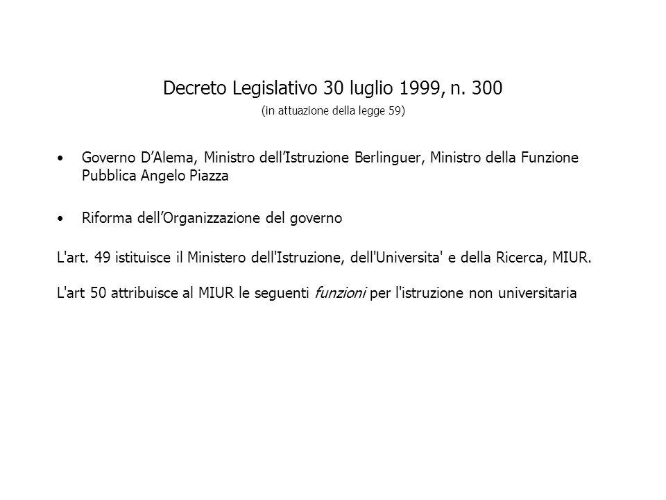 Decreto Legislativo 30 luglio 1999, n