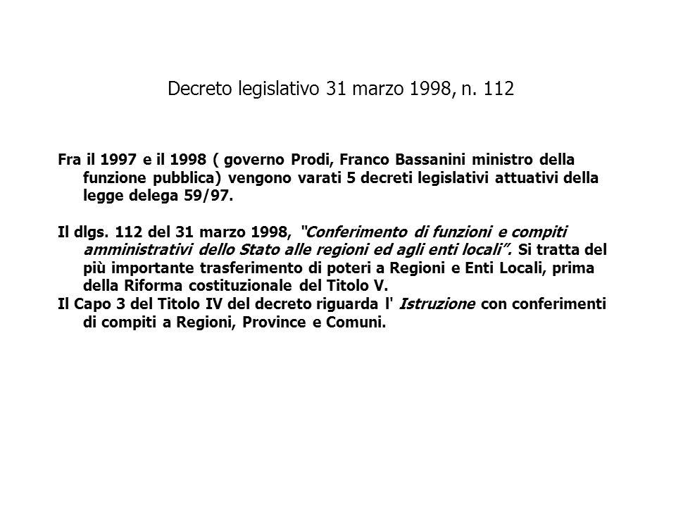 Decreto legislativo 31 marzo 1998, n. 112
