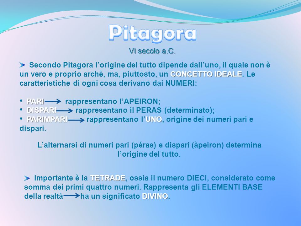 Pitagora VI secolo a.C.