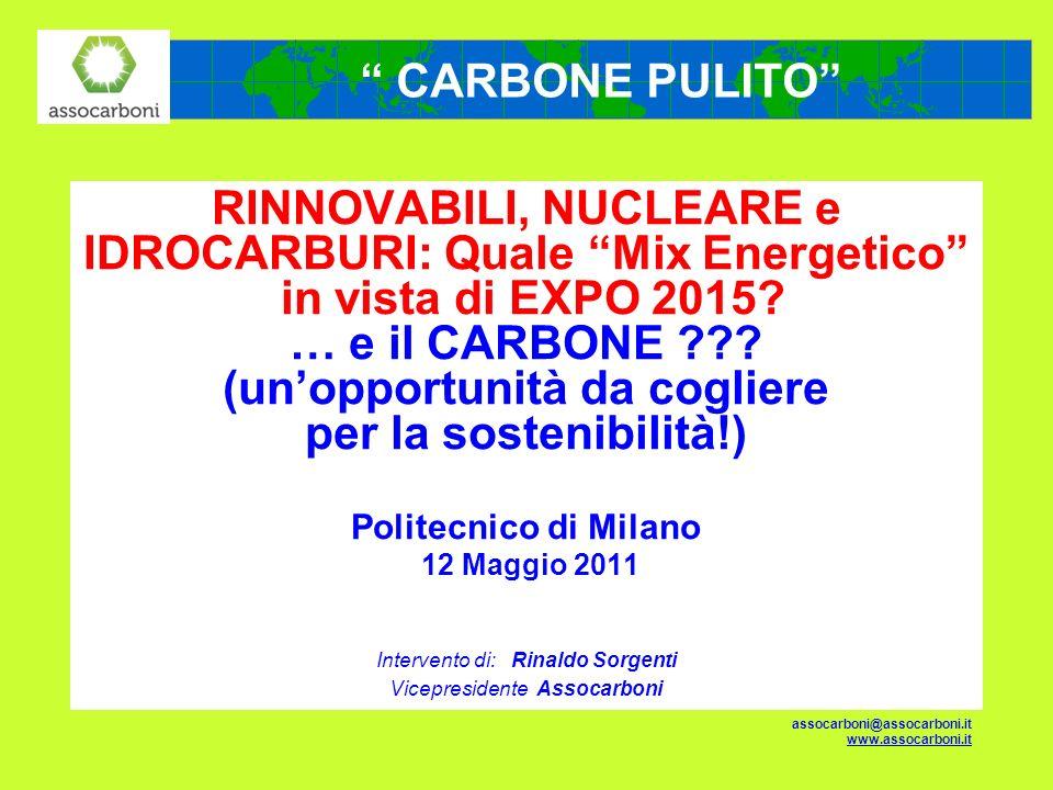 RINNOVABILI, NUCLEARE e IDROCARBURI: Quale Mix Energetico