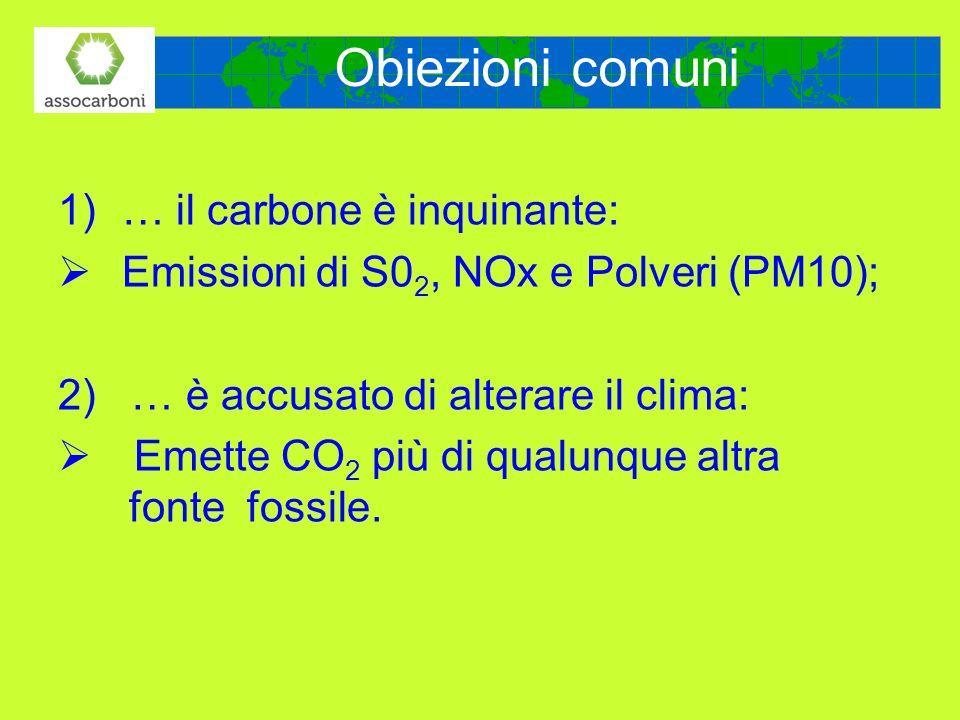 Obiezioni comuni … il carbone è inquinante: