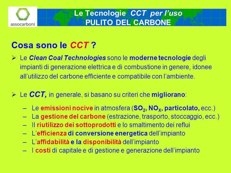 Le Tecnologie CCT per l'uso PULITO DEL CARBONE