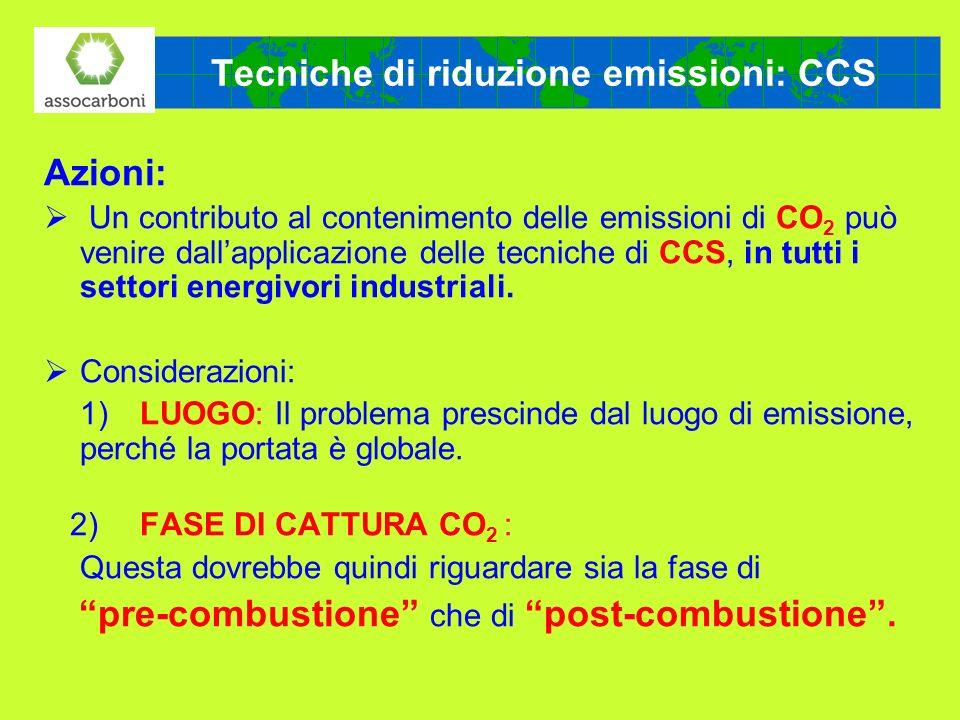 Tecniche di riduzione emissioni: CCS