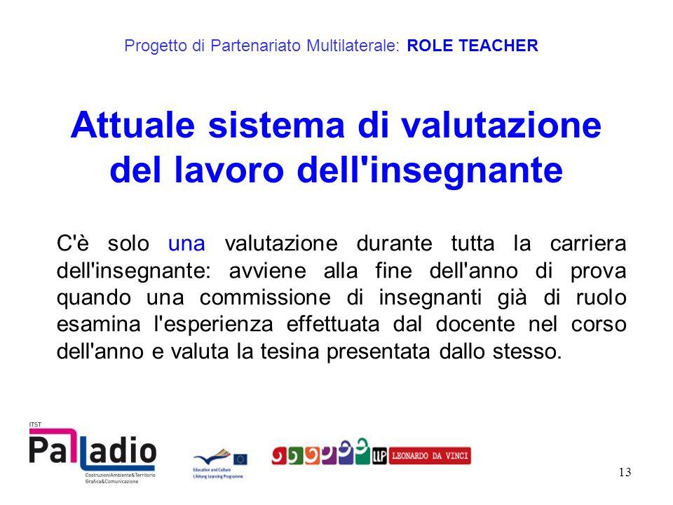 Attuale sistema di valutazione del lavoro dell insegnante