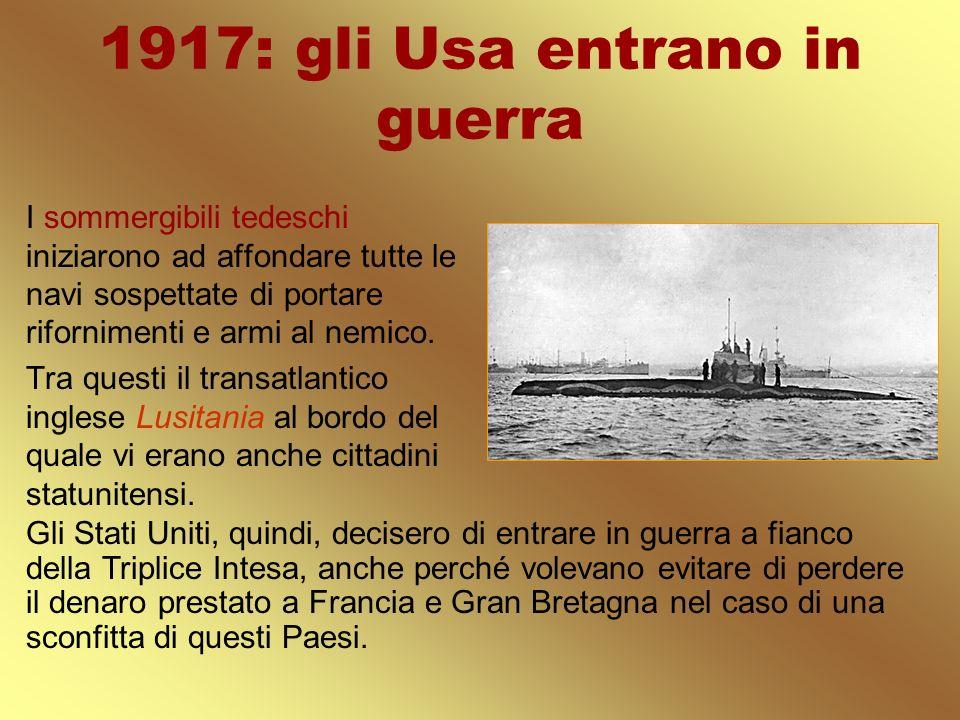 1917: gli Usa entrano in guerra