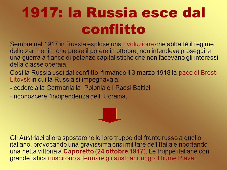 1917: la Russia esce dal conflitto