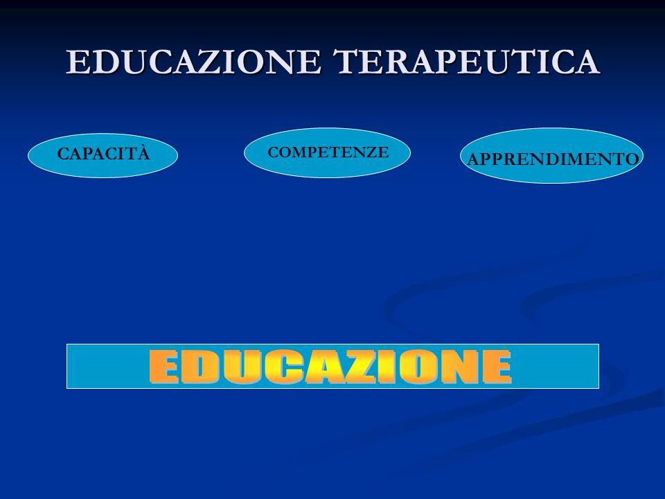 EDUCAZIONE TERAPEUTICA