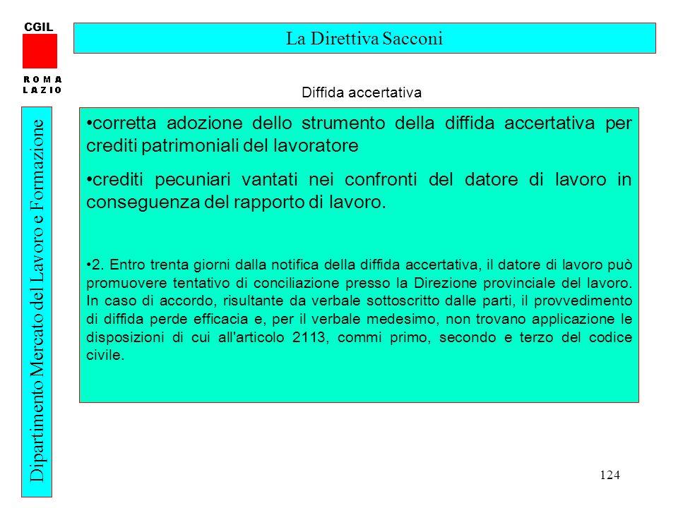 Dipartimento Mercato del Lavoro e Formazione