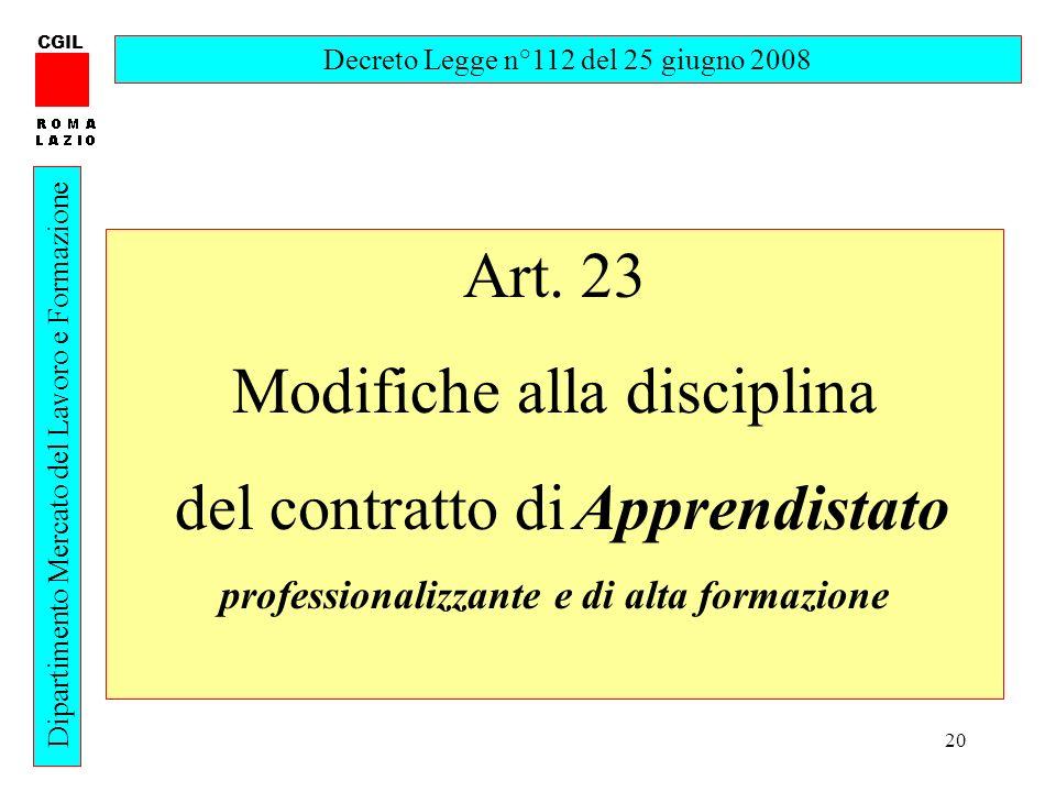 professionalizzante e di alta formazione