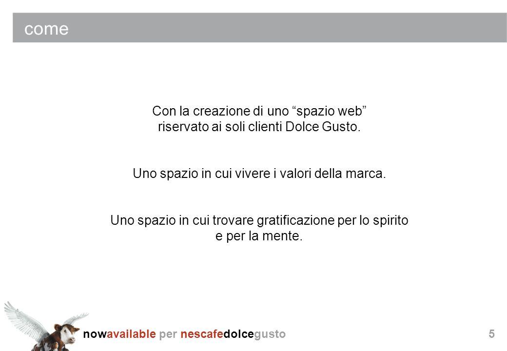 come Con la creazione di uno spazio web