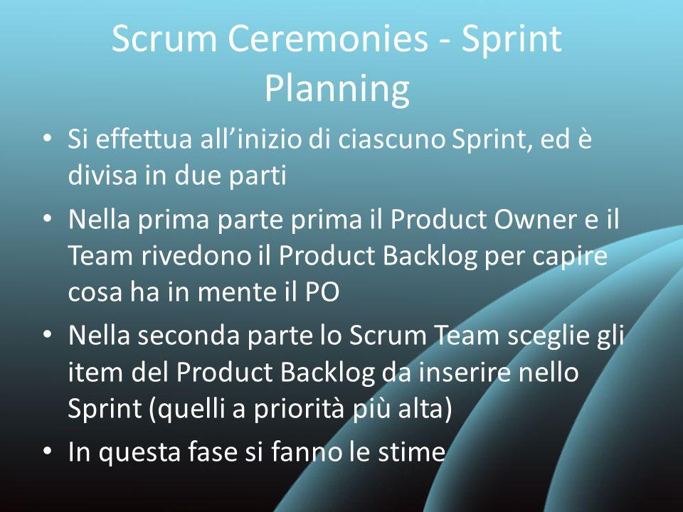 Scrum Ceremonies - Sprint Planning