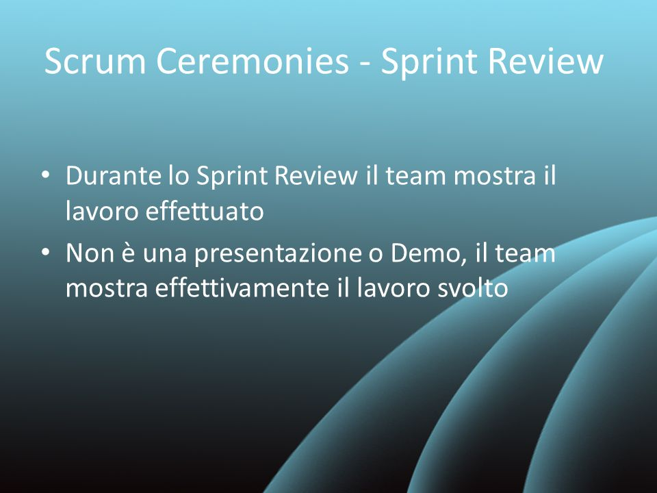 Scrum Ceremonies - Sprint Review