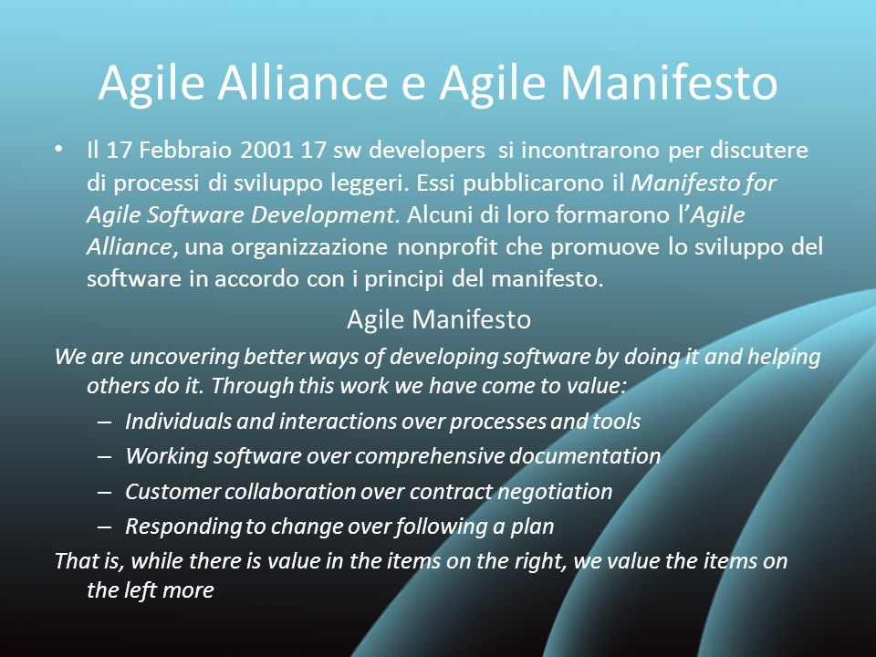 Agile Alliance e Agile Manifesto