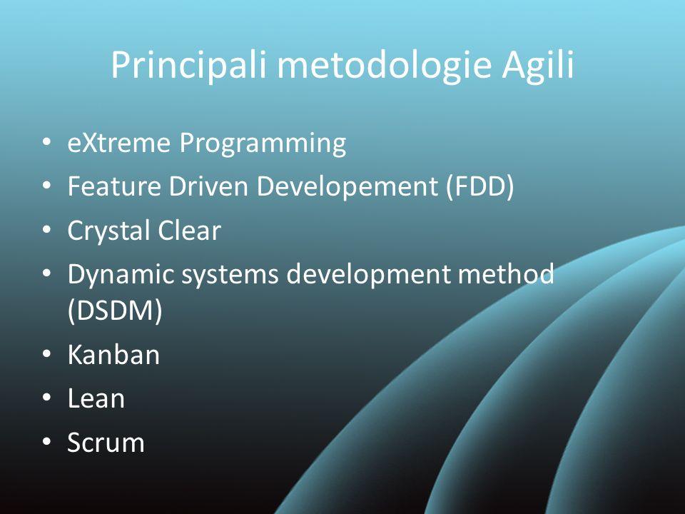 Principali metodologie Agili