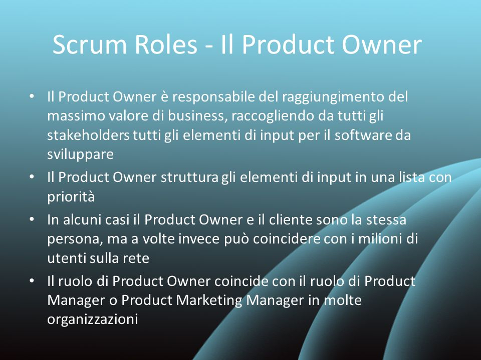 Scrum Roles - Il Product Owner