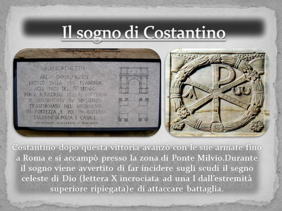 Il sogno di Costantino