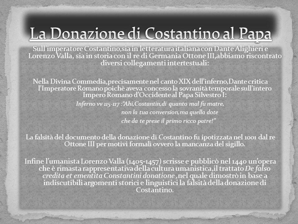 La Donazione di Costantino al Papa