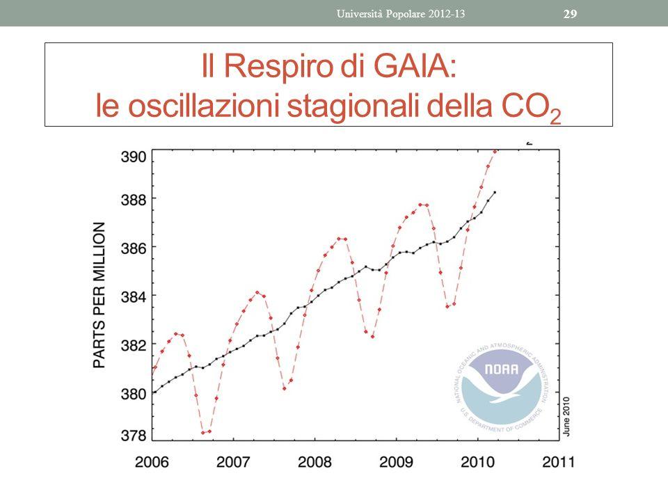 Il Respiro di GAIA: le oscillazioni stagionali della CO2